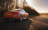 Audi TT Coupe 2019 UK first drive review - on the road rear