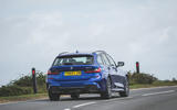 BMW 3 Series Touring 320d 2019 UK first drive review - cornering front