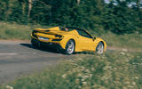 Ferrari F8 Tributo Spider 2020 UK first drive review - on the road rear