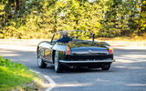 21 GTO California Spyder revival 2021 UK FD cornering rear