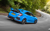 Honda Civic Type R 2020 UK first drive review - on the road rear