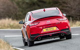 Hyundai i30 Fastback N 2019 UK first drive review - cornering rear