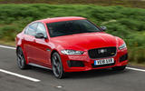 Jaguar XE 300 Sport 2018 UK first drive review on the road