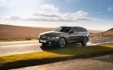 21 Jaguar XF Sportbrake 2021 UK first drive review on road front