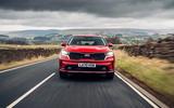 21 Kia Sorento PHEV 2021 UK first drive review on road nose