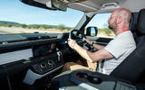 Land Rover Defender 110 S 2020 first drive review - Matt Prior driving