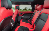 Land Rover Range Rover Sport HST 2019 UK first drive review - rear seats