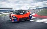 McLaren Senna 2018 UK first drive review track front