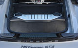 Porsche 718 Cayman GTS 2018 UK review rear boot space