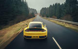 Porsche 911 Carrera 4S 2019 UK first drive review - on the road rear end