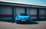 21 Porsche 911 GT3 2021 UK first drive review garage