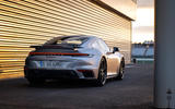 Porsche 911 Turbo S 2020 first drive review - static rear