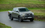 Toyota Hilux Invincible X 2020 UK first drive review - cornering front