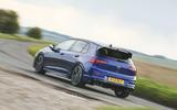 21 Volkswagen Golf R performance pack 2021 UK FD on road rear