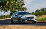Volvo V60 D4 Inscription 2018 UK first drive review cornering front