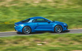 Alpine A110 2018 UK on the road side