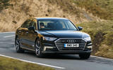 Audi A8 60 TFSIe 2020 UK first drive review - on the road front