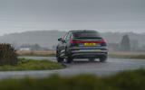 22 Audi E tron S Sportback 2021 UK first drive review cornering rear