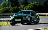 Audi RS5 Sportback 2019 first drive review - cornering front
