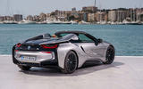 BMW i8 Roadster 2018 first drive review static rear