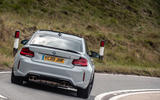 BMW M2 CS 2020 UK first drive review - on the road rear