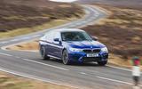 BMW M5 2018 long-term review cornering front