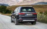 BMW X7 2019 first drive review - on the road rear