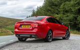 Jaguar XE 300 Sport 2018 UK first drive review static rear