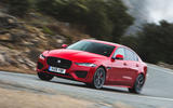 Jaguar XE P300 2019 first drive review - cornering front