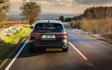 22 Jaguar XF Sportbrake 2021 UK first drive review on road rear