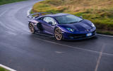 Lamborghini Aventador SVJ 2018 UK first drive review - cornering front