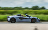 McLaren 570S Spider Track Pack 2018 UK review on the road side