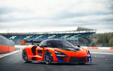 McLaren Senna 2018 UK first drive review static doors closed