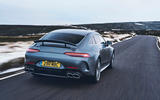Mercedes-AMG GT 63 S 4-door Coupé 2019 UK first drive review - on the road rear