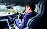 Porsche Taycan Turbo 2020 UK first drive review - Lawrence Allan driving