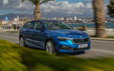 Skoda Scala 2019 first drive review - on the road front right