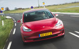 Tesla Model 3 Performance 2019 first drive review - on the road nose