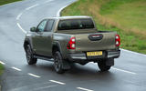 Toyota Hilux Invincible X 2020 UK first drive review - cornering rear