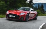 Aston Martin DBS Superleggera 2018 first drive review road driving front