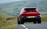 Aston Martin DBX 2020 UK first drive review - on the road rear