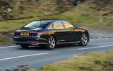 Audi A8 60 TFSIe 2020 UK first drive review - on the road side