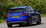 23 Audi SQ5 TDI 2021 UK FD cornering rear