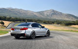 BMW M5 Competition 2018 first drive review static rear