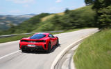 Ferrari 488 Pista 2018 review on the road rear