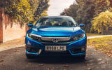 Honda Civic saloon 2018 UK first drive review static nose