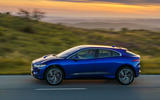 Jaguar I-Pace 2018 review on the road side