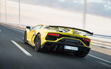 Lamborghini Aventador SVJ 2018 first drive review on the road rear