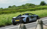 McLaren 570S Spider Track Pack 2018 UK review on the road rear