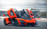 McLaren Senna 2018 UK first drive review static doors open