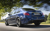 Mercedes-AMG C63 2018 first drive review on the road rear